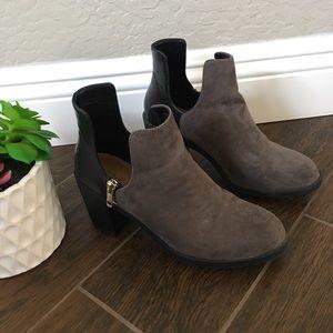 Zara trafaluc cutout chunky suede boots size 38